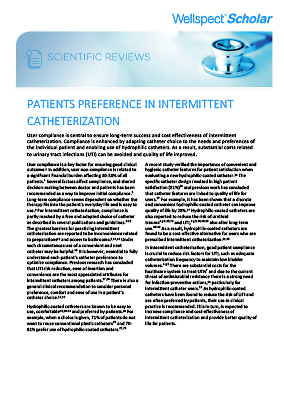 Patient Preference in Intermittent Catheterization
