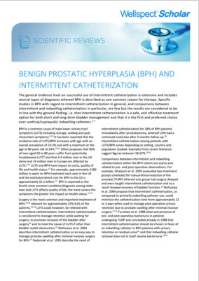 BPH and Intermittent Catheterization